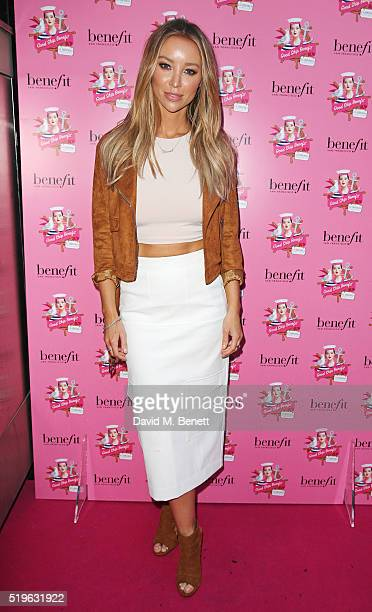 Lauren Pope attends the launch of 'Good Ship Benefit' a beauty and entertainment destination opening on the River Thames and run by Benefit Cosmetics...