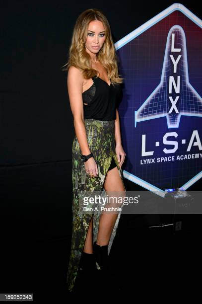 Lauren Pope attends the Lynx LSA launch event at Wimbledon Studios on January 10 2013 in London England