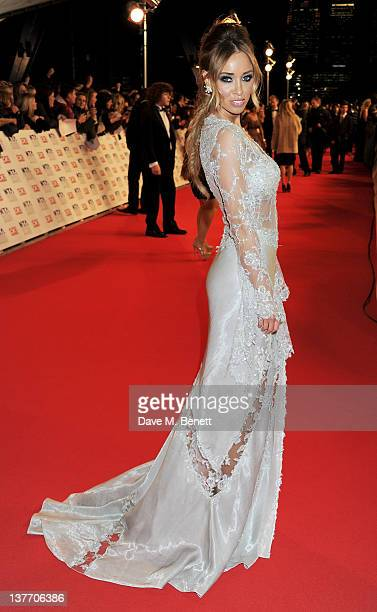 Lauren Pope attends the National Television Awards 2012 at the O2 Arena on January 25 2012 in London England