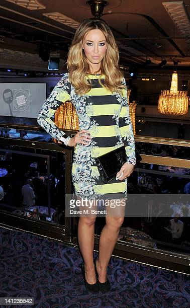 Lauren Pope attends the TRIC Television and Radio Industries Club Awards at The Grosvenor House Hotel on March 13 2012 in London England