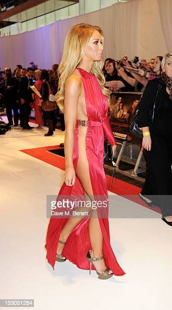 Lauren Pope attends the UK Premiere of 'The Twilight Saga Breaking Dawn Part 1' at Westfield Stratford City on November 16 2011 in London England