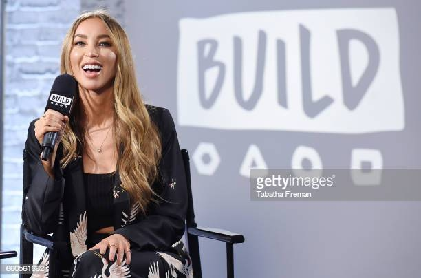 Lauren Pope joins BUILD for a live interview at their London studio on March 30 2017 in London United Kingdom