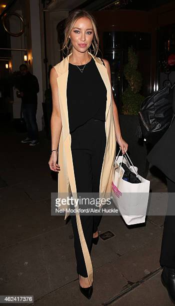 Lauren Pope seen leaving The Soho Sanctum Hotel on January 28 2015 in London England