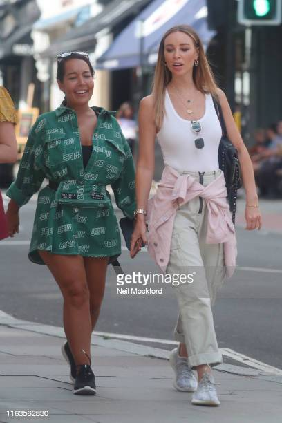 Lauren Pope seen with a friend in Hampstead on July 22 2019 in London England