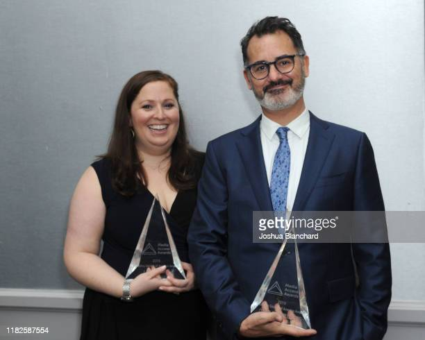 Lauren Port and David Caparelliotis attend the 40th Annual Media Access Awards In Partnership With Easterseals at The Beverly Hilton Hotel on...