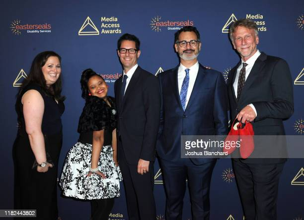 Lauren Port, Gigi Cunningham, David Schulner, David Caparelliotis and Peter Horton attend the 40th Annual Media Access Awards In Partnership With...