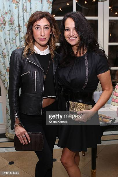 Lauren Rae Levy and Emma SnowdonJones attend the Spring/Summer 2017 Ella McHugh Collection Luncheon the at Laduree Soho on November 1 2016 in New...