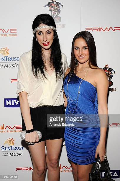 Lauren Rae Levy and Kelli Tomashoff attend the Primary Wave PreGrammy Party sponsored by Nivea at SLS Hotel on January 30 2010 in Beverly Hills...