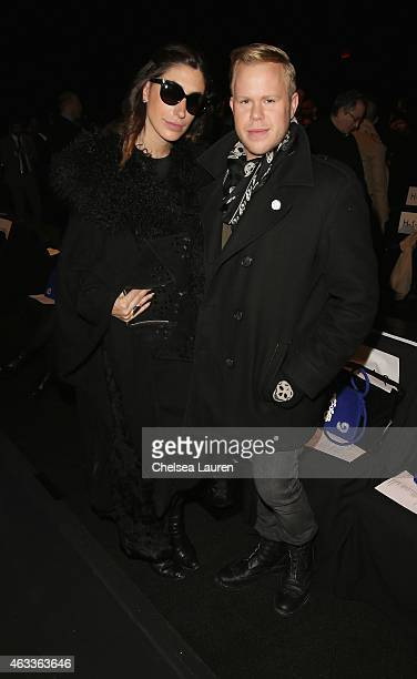 Lauren Rae Levy and photographer Andrew Werner attend the Mongol fashion show during Mercedes-Benz Fashion Week Fall 2015 at The Theatre at Lincoln...