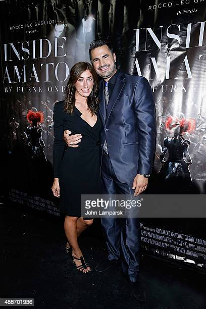 Lauren Rae Levy and Rocco Leo Gaglioti attends 'Inside Amato' New York premiere at Liberty Theater on September 16 2015 in New York City