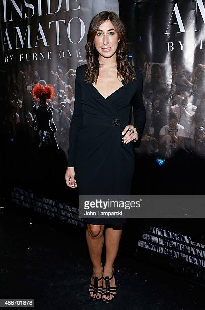Lauren Rae Levy attends 'Inside Amato' New York premiere at Liberty Theater on September 16 2015 in New York City