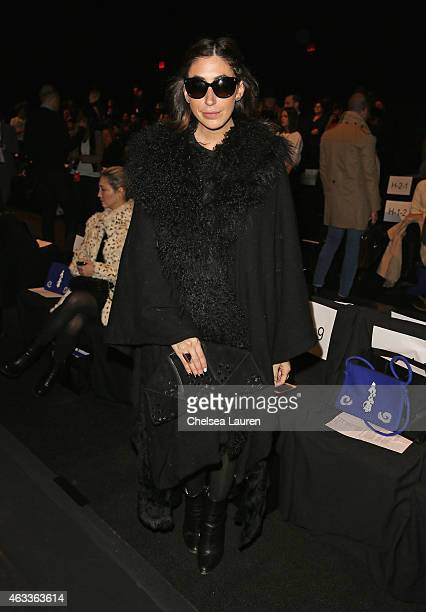 Lauren Rae Levy attends the Mongol fashion show during Mercedes-Benz Fashion Week Fall 2015 at The Theatre at Lincoln Center on February 13, 2015 in...