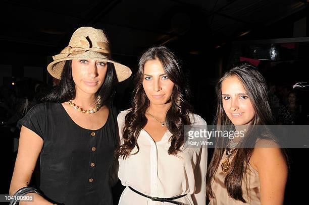 Lauren Rae Levy Maya Zaken and Kelli Brooke Tomashoff attend MercedesBenz Fashion Week at Lincoln Center on September 14 2010 in New York City