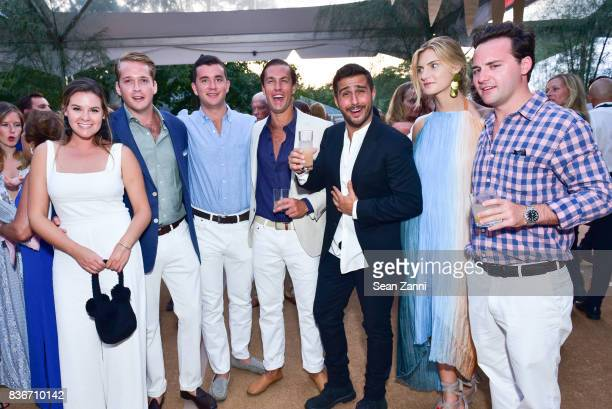 Lauren Reich Ned Dupont Matt McCarthy Peter Corbet Guest Morgan McCall and Gunnar Wilmot at ARF's Bow Wow Meow Ball at ARF Adoption Center on August...