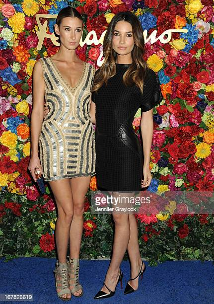 Lauren Remington Platt and Model Lily Aldridge attend the Ferragamo Celebrates The Launch Of L'Icona Highlighting The 35th Anniversary Of Vara at The...