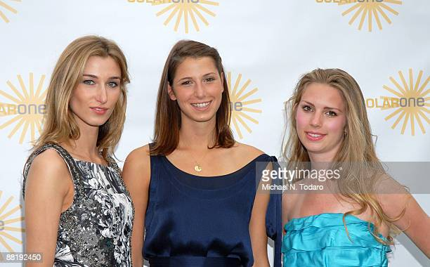 Lauren Remington Platt Ashley Wilcox Platt and Hadley Nagel attend Solar One's Annual Revelry By The River Benefit at Solar One on June 2 2009 in New...