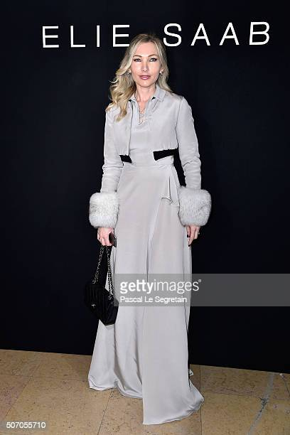 Lauren Remington Platt attends the Elie Saab Spring Summer 2016 show as part of Paris Fashion Week on January 27 2016 in Paris France