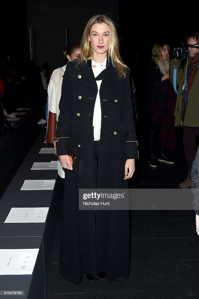 Lauren Remington Platt attends the Prabal Gurung Fall 2016 fashion show during New York Fashion Week: The Shows at The Arc, Skylight at Moynihan Station on February 14, 2016 in New York City.