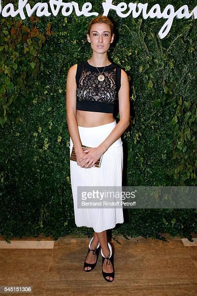 Lauren Remington Platt attends the Re Opening of Salvatore Ferragamo Boutique at Avenue Montaigne on July 5 2016 in Paris France