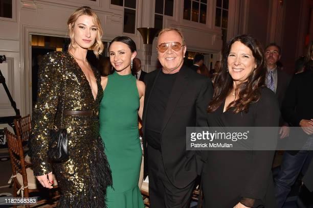 Lauren Remington Platt Georgina Bloomberg Michael Kors and Karen Pearl attend the 13th Annual Golden Heart Awards at Cipriani South Street on October...