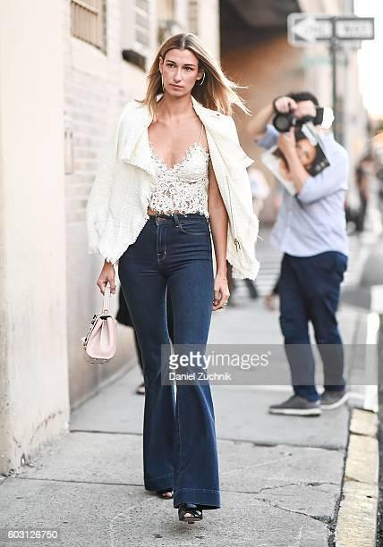 Lauren Remington Platt is seen outside the Prabal Gurung show during New York Fashion Week Spring 2017 on September 11 2016 in New York City