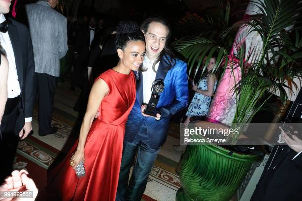 Lauren Ridloff and Jordan Roth attend the Tony Awards Gala at the Plaza on June 10 2018 in New York New York
