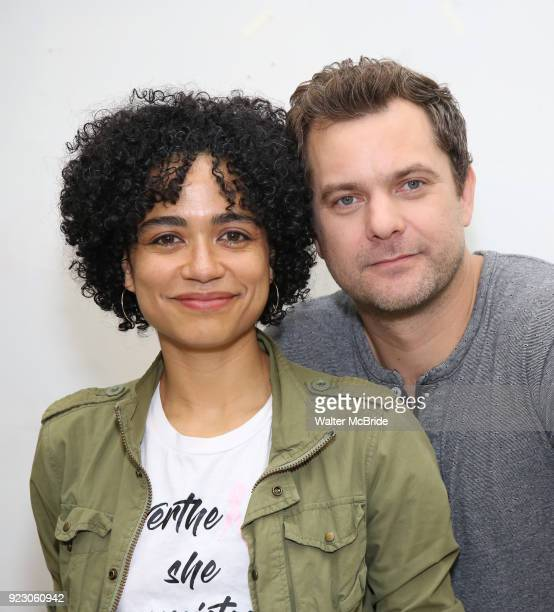 Lauren Ridloff and Joshua Jackson attend the cast photo call for the Broadway Revival of 'Children of a Lesser God' on February 22 2018 at the...