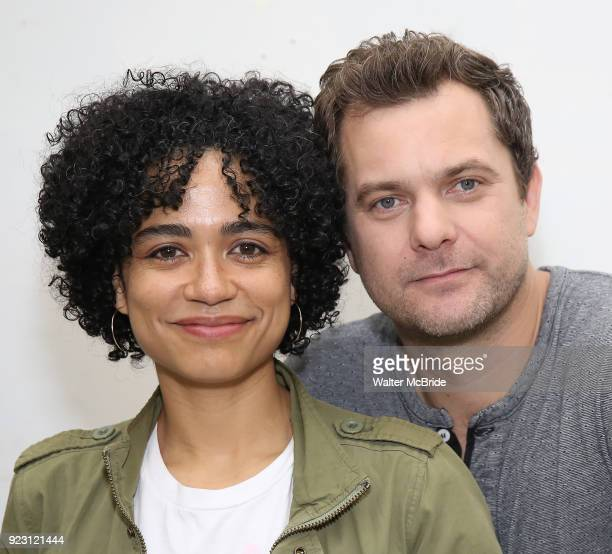 Lauren Ridloff and Joshua Jackson attend the first rehearsal and cast photo call for the Broadway Revival of 'Children of a Lesser God' on February...