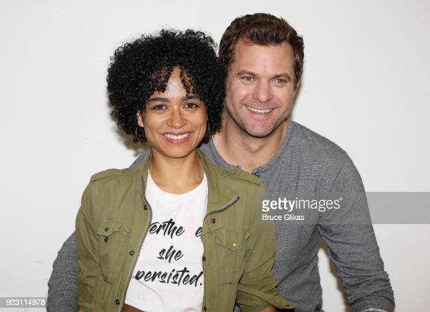 Lauren Ridloff and Joshua Jackson pose at broadway's upcoming revival of 'Children Of A Lesser God' first rehearsal at The Roundabout Theatre Company...