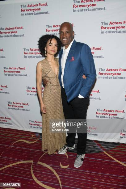 Lauren Ridloff and Kenny Leon attend The Actors Fund 2018 Gala at Marriott Marquis Times Square on May 14 2018 in New York City