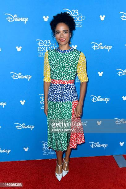 Lauren Ridloff attends Go Behind The Scenes with Walt Disney Studios during D23 Expo 2019 at Anaheim Convention Center on August 24 2019 in Anaheim...