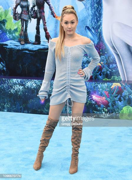 Lauren Riihimaki arrives at Universal Pictures And DreamWorks Animation Premiere Of How To Train Your Dragon The Hidden World at Regency Village...