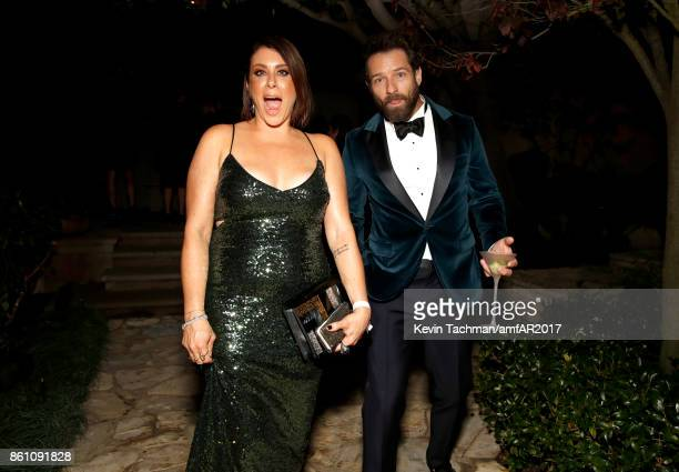 Lauren Rodolitz and Ian Bohen at amfAR Los Angeles 2017 at Ron Burkle's Green Acres Estate on October 13 2017 in Beverly Hills Californi