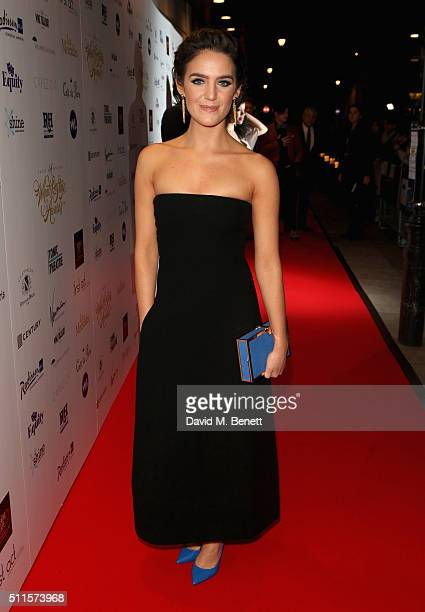 Lauren Samuels attends the 16th Annual WhatsOnStage Awards at The Prince of Wales Theatre on February 21 2016 in London England