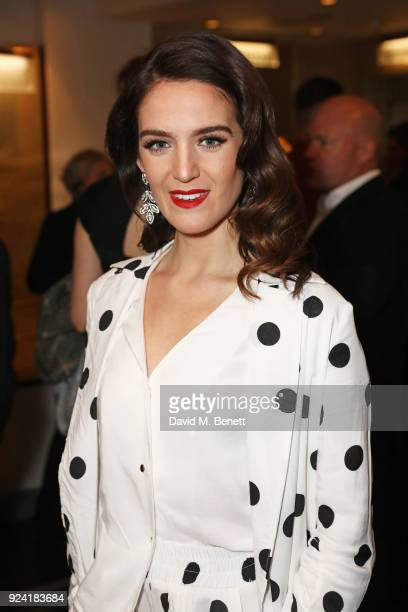 Lauren Samuels attends the 18th Annual WhatsOnStage Awards at the Prince Of Wales Theatre on February 25 2018 in London England