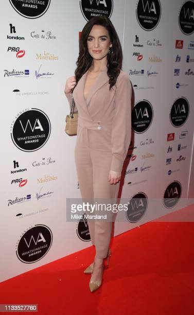 Lauren Samuels attends the WhatsOnStage Awards at Prince Of Wales Theatre on March 03 2019 in London England