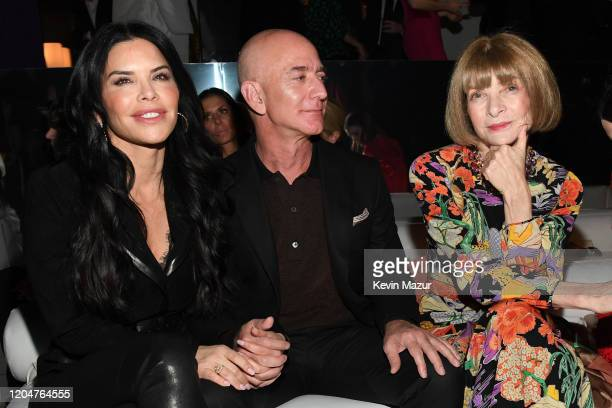 Lauren Sanchez Amazon CEO Jeff Bezos and Anna Wintour attends the Tom Ford AW20 Show at Milk Studios on February 07 2020 in Hollywood California