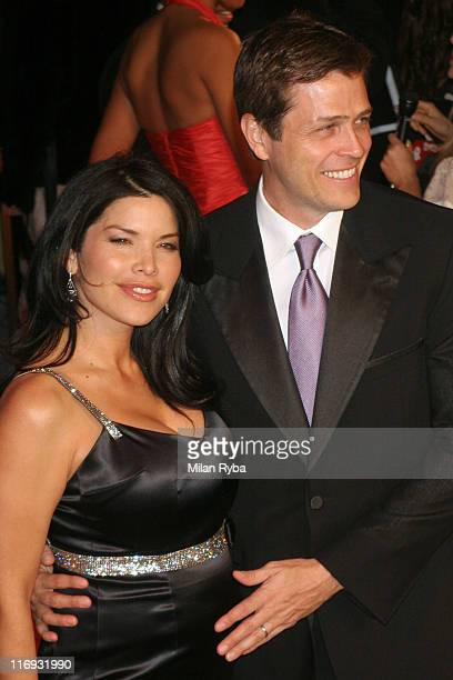 Lauren Sanchez and guest during 2006 Vanity Fair Oscar Party at Morton's in West Hollywood California United States
