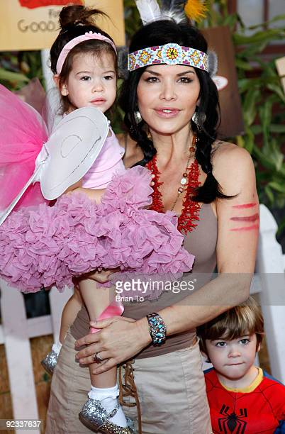 Lauren Sanchez and her children attend Camp Ronald McDonald For Good Times' 17th Annual Halloween Carnival at Universal Studios Backlot on October 25...