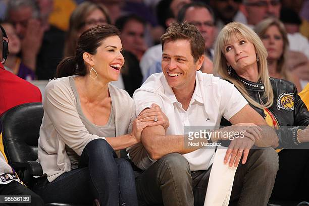 Lauren Sanchez attends a game between the Oklahoma City Thunder and the Los Angeles Lakers at Staples Center on April 18 2010 in Los Angeles...
