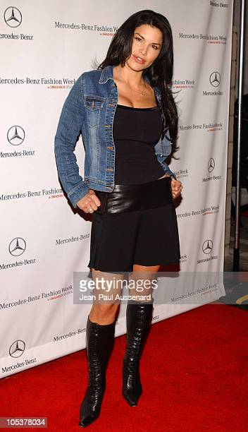 Lauren Sanchez during MercedesBenz Fall 2004 Fashion Week at Smashbox Studios Day 2 Arrivals at Smashbox Studios in Culver City California United...