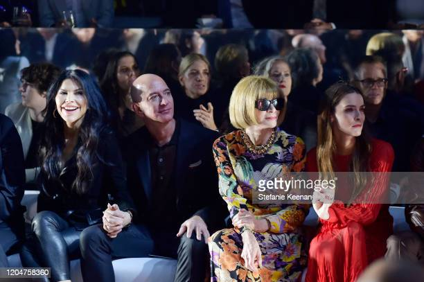 Lauren Sanchez Jeff Bezos Anna Wintour and Bee Shaffer attend Tom Ford Autumn/Winter 2020 Runway Show at Milk Studios on February 07 2020 in Los...