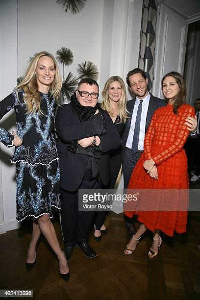 Lauren Santo Domingo Alber Elbaz Kristina OÕNeill Derek Blasberg and Dasha Zhukova attend the party for Dasha Zhukova' cover for Wall Street Journal...