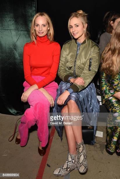 Lauren Santo Domingo and Elisabeth von Thurn und Taxis attend the Erdem catwalk show during London Fashion Week at The Old Selfridges Hotel on...