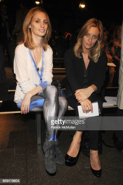 Lauren Santo Domingo and Jessica Diehl attend RICHARD CHAI Spring 2010 Collection at Cedar Lake on September 12 2009 in New York City