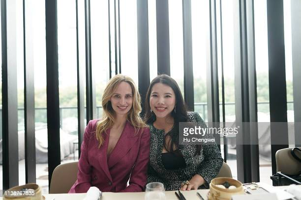 Lauren Santo Domingo and Wendy Yu attend the BoF China Summit 2019 at HKRI Taikoo Hui Event Centre on March 28 2019 in Shanghai China