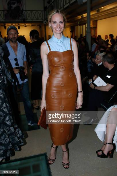 Lauren Santo Domingo attends the Azzedine Alaia Fashion Show as part of Haute Couture Paris Fashion Week Held at Azzedine Alaia Gallery on July 5...