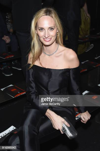 Lauren Santo Domingo attends the Bottega Veneta Fall/Winter 2018 fashion show at New York Stock Exchange on February 9 2018 in New York City