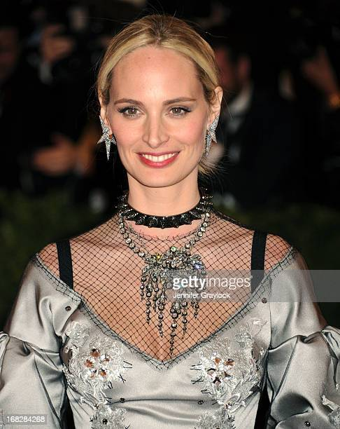 Lauren Santo Domingo attends the Costume Institute Gala for the PUNK Chaos to Couture exhibition at the Metropolitan Museum of Art on May 6 2013 in...