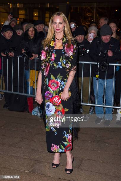 Lauren Santo Domingo attends the Dolce Gabbana Alta Moda 2018 collection at the Metropolitan Opera House at Lincoln Center on April 8 2018 in New...